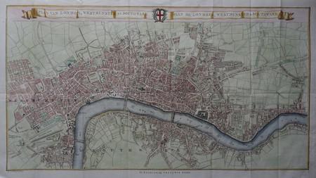Engeland. Londen. Stadsplattegrond.