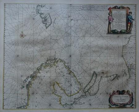 Northern Europe. Barents Sea. Sea Chart.