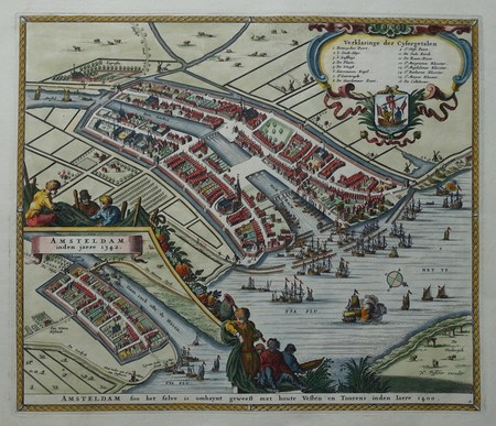 Amsterdam. Bird's-eye plan.