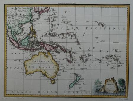 Australië. Nieuw Zeeland. Indonesië. Pacific.