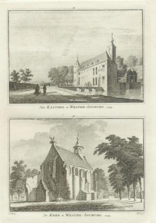 WEST-SOUBURG. Kasteel en Kerk te Wester-Souburg