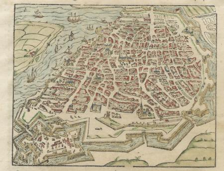 Belgium. Antwerp. Bird's-eye plan