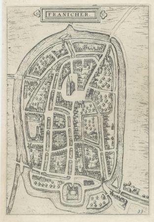 FRANEKER. Stadsplattegrond.
