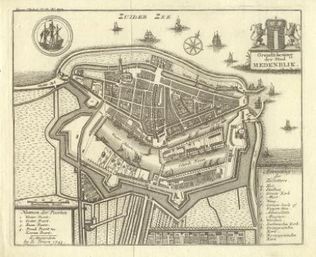 MEDEMBLIK. Stadsplattegrond.