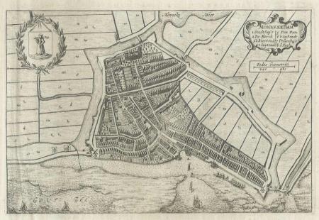 MONNICKENDAM. Stadsplattegrond.