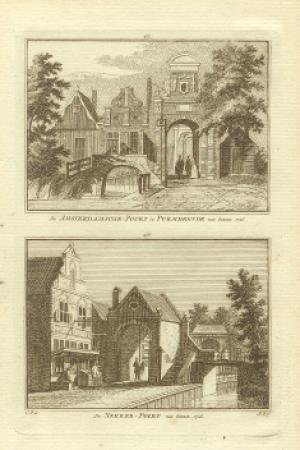PURMEREND.  Amsterdamse Poort en Nekkerpoort.