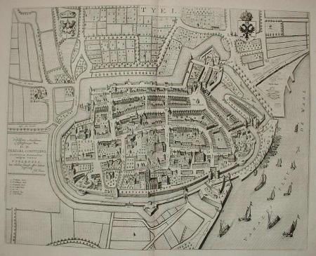 TIEL. Stadsplattegrond.