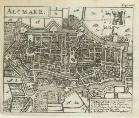 ALKMAAR. Stadsplattegrond