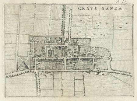 GRAVENZANDE 'S. Stadsplattegrond 's-Gravenzande.