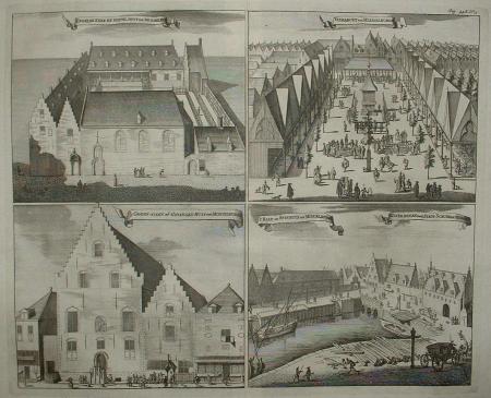 MIDDELBURG. Engelse kerk. Vismarkt. Gevangenhuis. Stadsschuur.