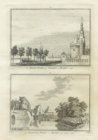 HOORN.  Hoofdpoort en Westpoort..