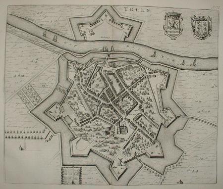THOLEN. Stadsplattegrond