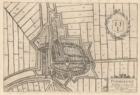 PURMEREND. Stadsplattegrond