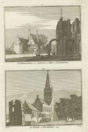 RIJNSBURG. Abdij, Hof en Kerk.