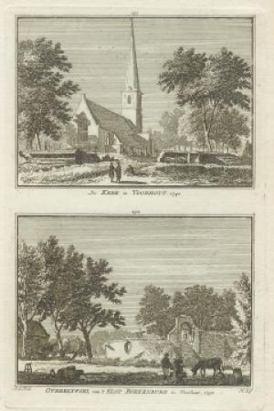 VOORHOUT. Kerk en Slot Boekenburg.