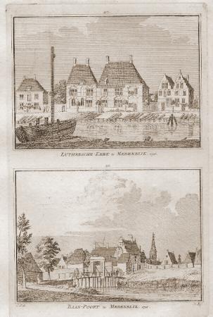 MEDEMBLIK. Lutherse kerk en Baanpoort.