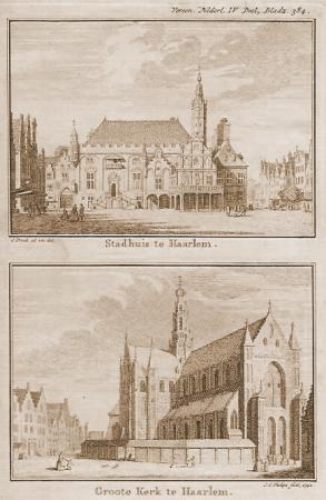 HAARLEM. Stadhuis en grote kerk.