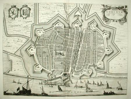 GORINCHEM. Stadsplattegrond Gorkum