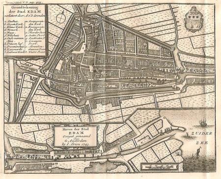 EDAM. Stadsplattegrond.