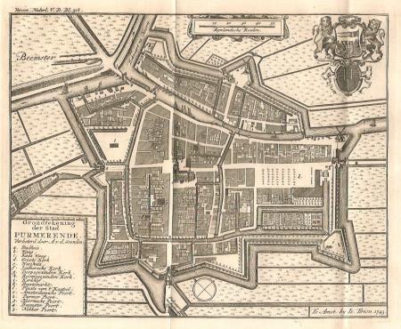 PURMEREND. Stadsplattegrond.