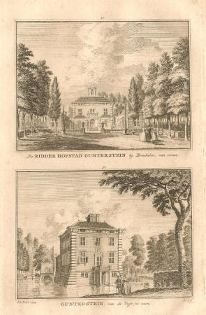BREUKELEN. Ridderhofstad Gunterstein.