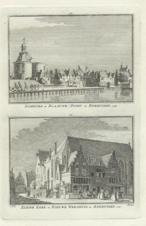ENKHUIZEN. Domburg en Kleine kerk.
