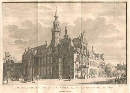 DEN HAAG. Stadhuis en Groenmarkt.