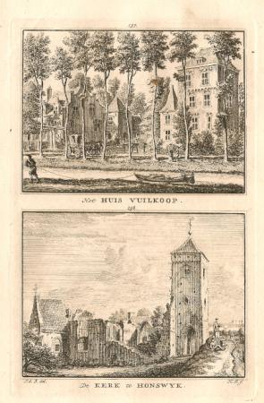 SCHALKWIJK. Huis Vuilkoop en Kerk Honswijk.