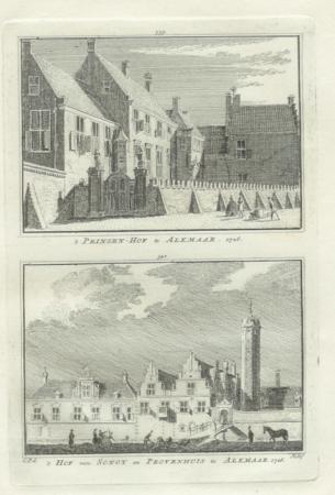 ALKMAAR. Prinsenhof en Hof van Sonoy.