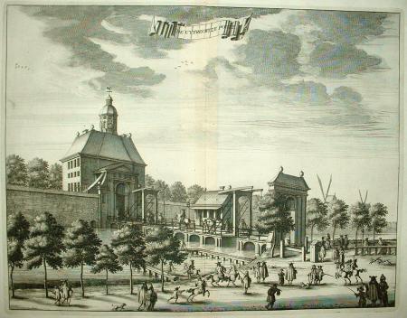 Amsterdam utrechtse poort c commelin 1693 dat for Amsterdam poort