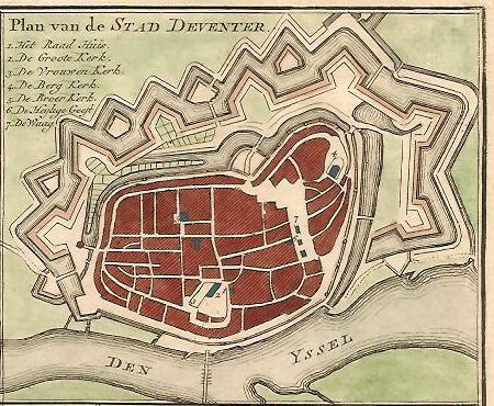 DEVENTER. Stadsplattegrond.