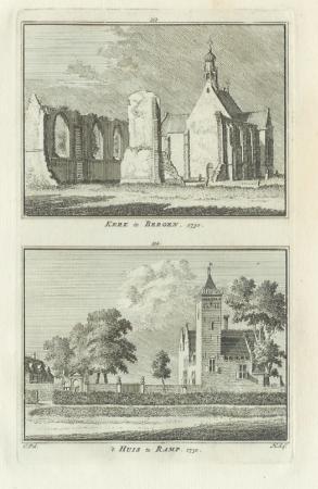 BERGEN. Kerk en Ramp.