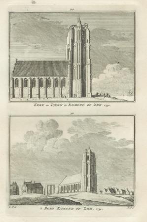EGMOND AAN ZEE. Kerk en dorp.