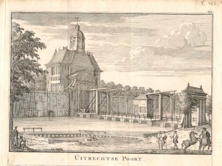 Amsterdam utrechtse poort erven j ratelband 1737 for Amsterdam poort