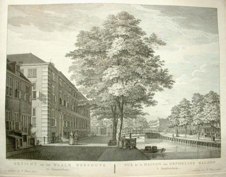 AMSTERDAM. Vijzelgracht. Maison Descartes. Waalse Weeshuis.