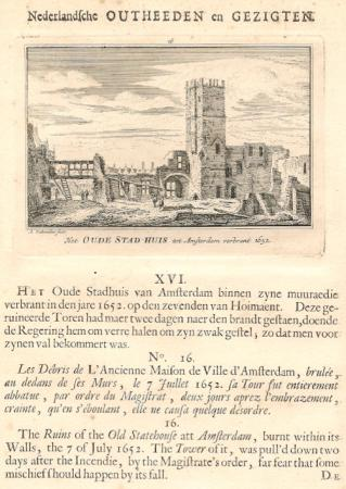 AMSTERDAM. Oude Stadhuis in 1652.