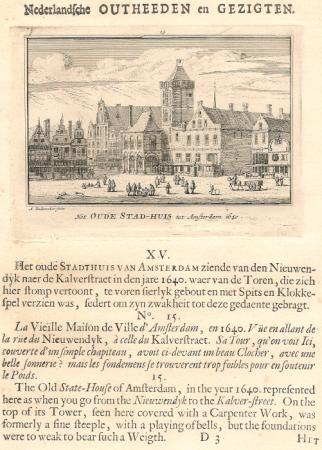 AMSTERDAM. Oude Stadhuis in 1640.