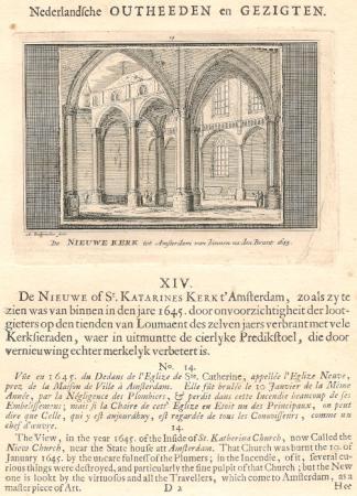 AMSTERDAM. Nieuwe Kerk, interieur.