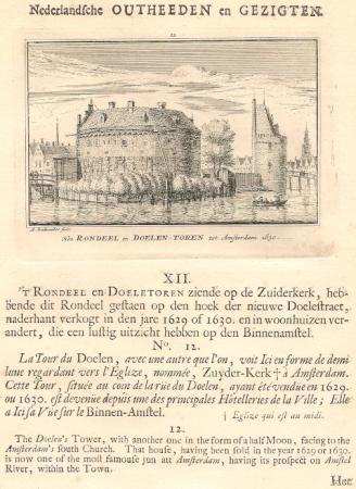 AMSTERDAM. Rondeel en Doelentoren.