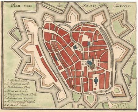 ZWOLLE. Stadsplattegrond.
