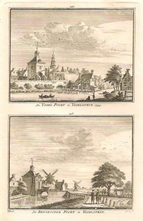 IJSSELSTEIN. IJsselpoort en Benskoperpoort.