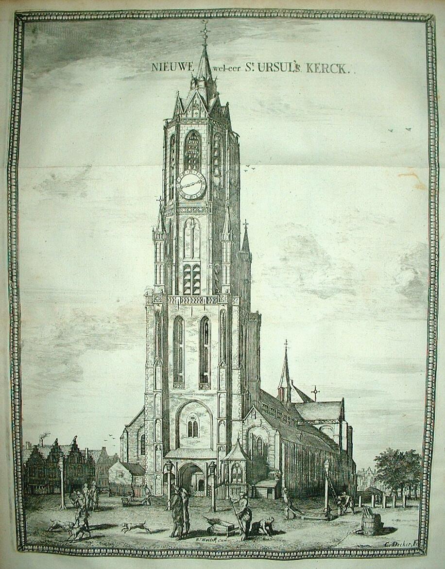 DELFT. Nieuwe Kerk. - C Decker / R Boitet, 1729 - Dat ...