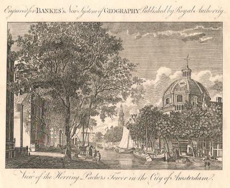 AMSTERDAM. Singel. Nieuwe Lutherse Kerk. Haringpakkerstoren.
