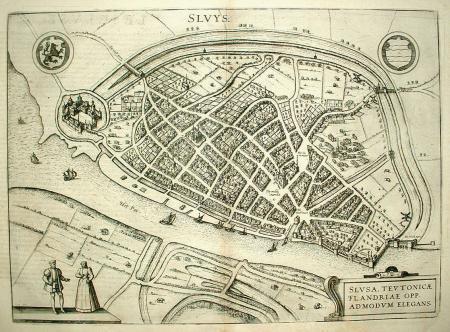 SLUIS. Stadsplattegrond.