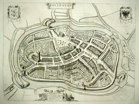 BOLSWARD. Stadsplattegrond.