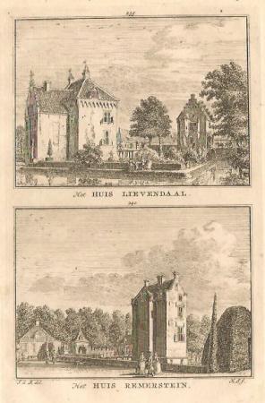 AMERONGEN en ACHTERBERG. Huis Lievendaal en Huis Remmerstein.