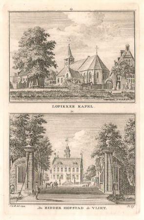 LOPIK. Lopikerkapel en Ridderhofstad de Vliet.