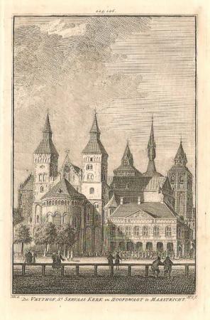 MAASTRICHT. Vrijthof en Sint Servaaskerk.