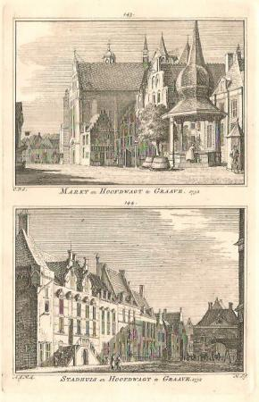 GRAVE. Markt / Stadhuis.