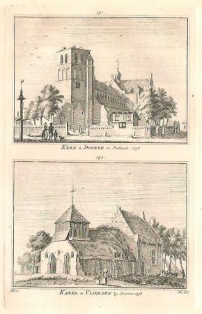 DEURNE. Kerk te Deurne en kapel te Vlierden.